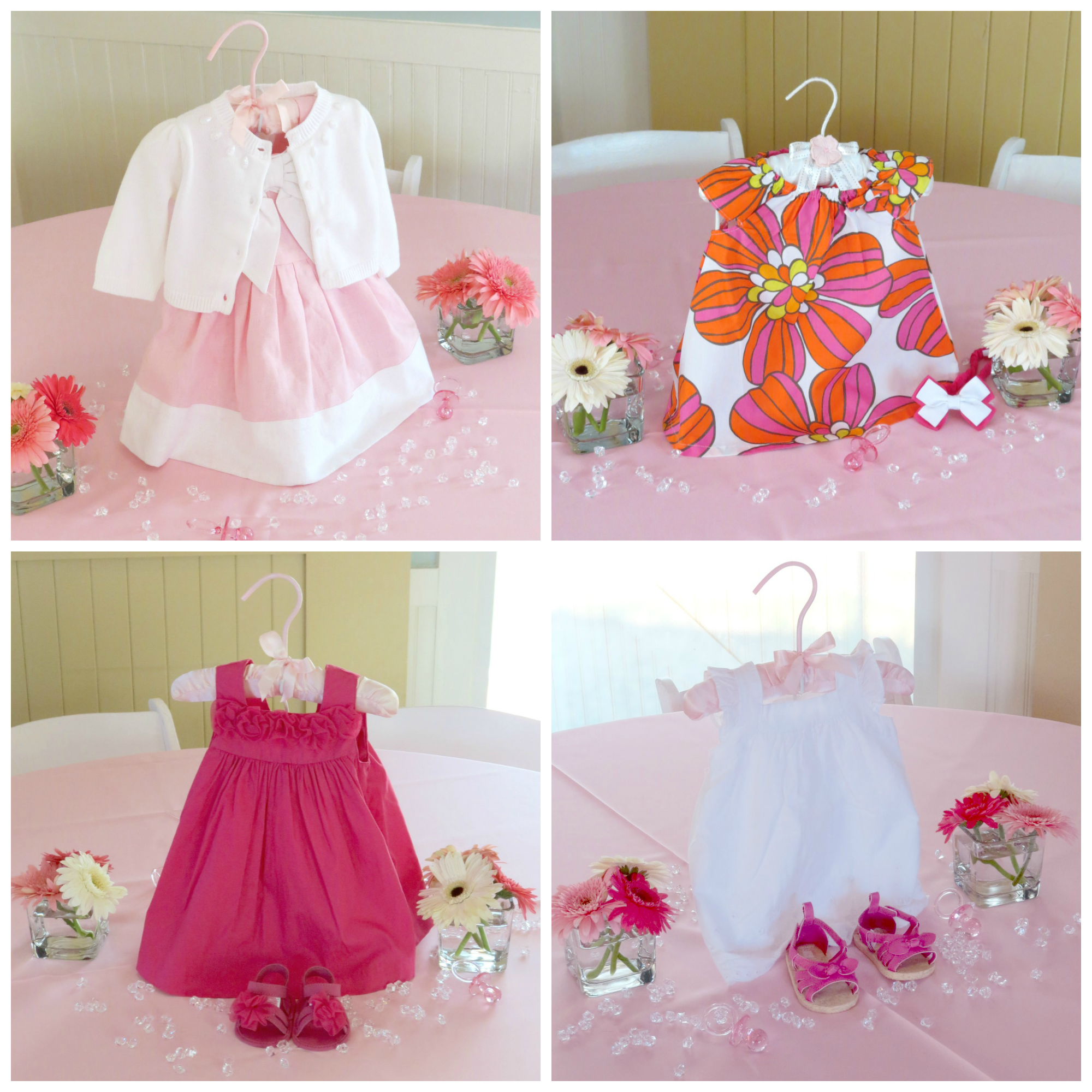 Diy baby dress centerpiece