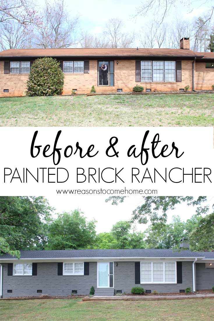 Painted brick reveal - How to paint brick house exterior ...